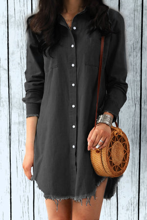 Vee Tassel Denim Shirt