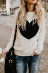 Vee Heart Knitted Sweater