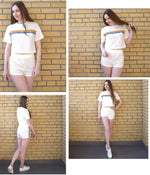 Vee Rainbow Tee & Short Set