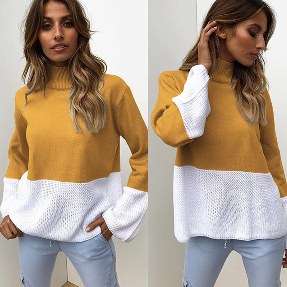 Vee Knit Flare Sleeve Warm Top