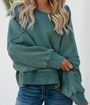 Vee Backless Loose Sweatshirt