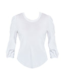 Baby Rib Puff 3/4 Sleeve Shirttail Tee