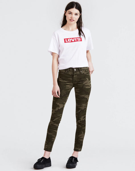 Camo Print 711 Skinny Ankle Women's Jeans Soft Camo - Green