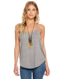 TRIBLEND SCOOP NECK STRAPPY BACK SHIRTTAIL TANK