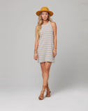 YARROW DRESS-White Stripe