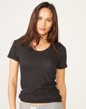 Textured Tri-Blend Fitted Crew Neck Tee