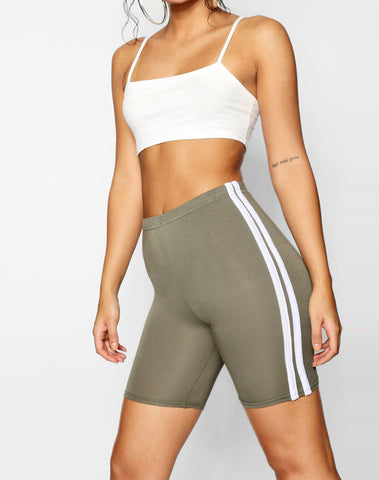Basic Double Side Stripe Cycling Short