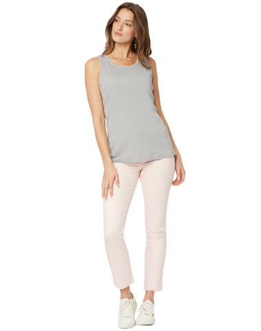 Ribbed Tank - Light Heather Grey