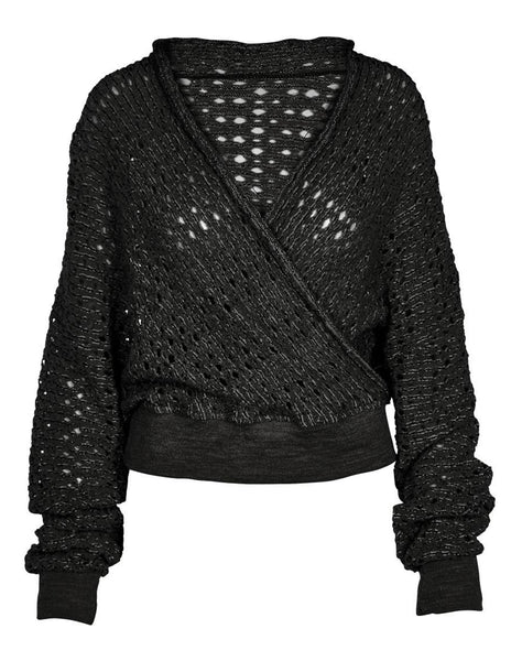 AGGIE knitted blouse - Black