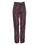 Lory Shiny Burgundy Trousers / 6129-10