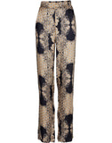 ELINA AUDREY patterned trousers - Black mix
