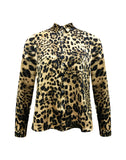 AVERY shirt in leopard print - Camel mix