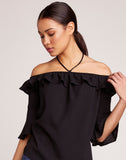 Haltered State Ruffle Top