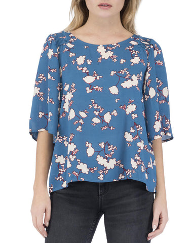 Bette Floral Flutter Sleeve Top