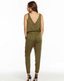 HEIRLOOM WOVENS DOUBLE V TIE WAIST JUMPSUIT