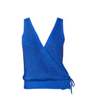 Josslyn Cobalt Surplice Knit V-neck Tank Top