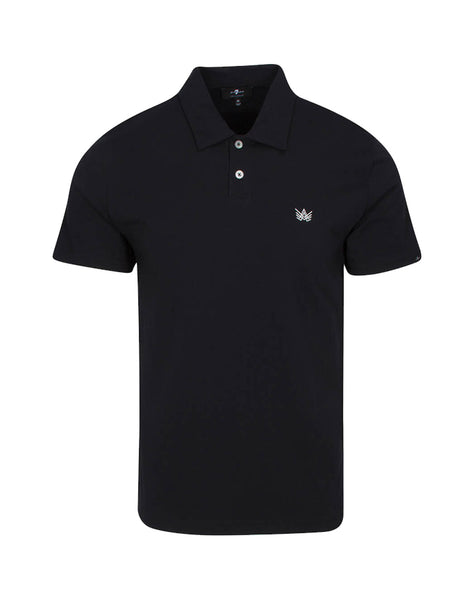 """A"" Emblem Polo in Black"