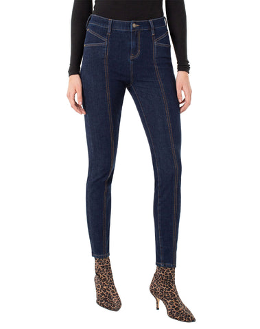 Abby Seamed Ankle Skinny 4-way Stretch Contour