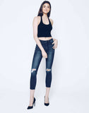 Addison Delaney Distressed High Rise Pants