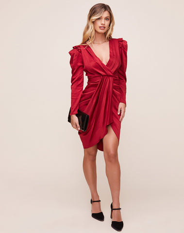 Alma Draped Mini Dress