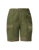 Lily High Waisted Surplus Short in Olive Green/Aloe