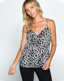 Leopard Print V-neck Tank Top