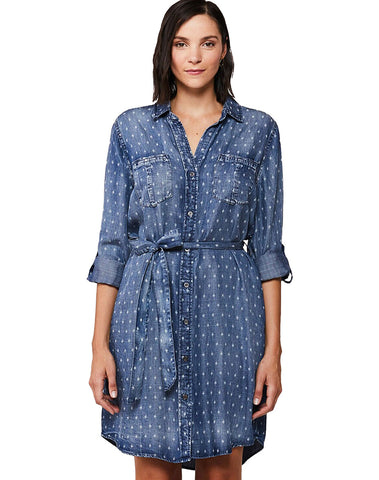 Anita Tribal Roll Tab Sleeve Shirt Dress