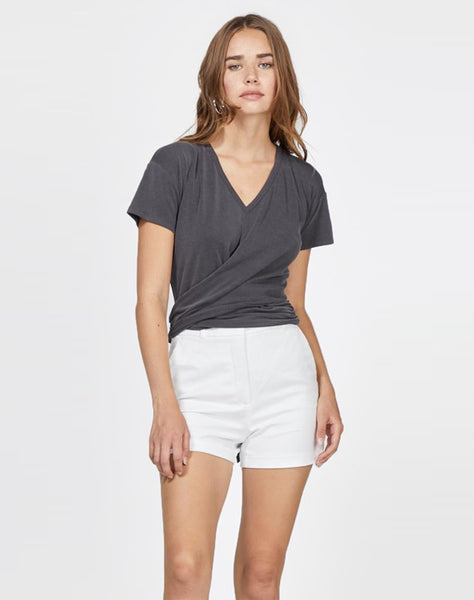 Aria Tie Wrap Modal Jersey Knit Top