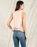 ASTRID PEPLUM BLOUSE | OIL WASH STONE