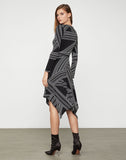 Asymmetric Jersey Knit Dress
