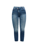 Asymmetric Skinny Jean in Blue Monday