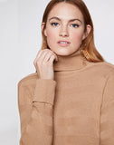 Asymmetric Turtleneck Sweater