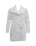 Asymmetrical Pressed Boucle Coat
