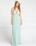 Ava Maxi Dress ~ Dusty Mint Crisp