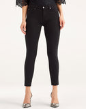 B(air) Ankle Skinny With Raw Hem In Black