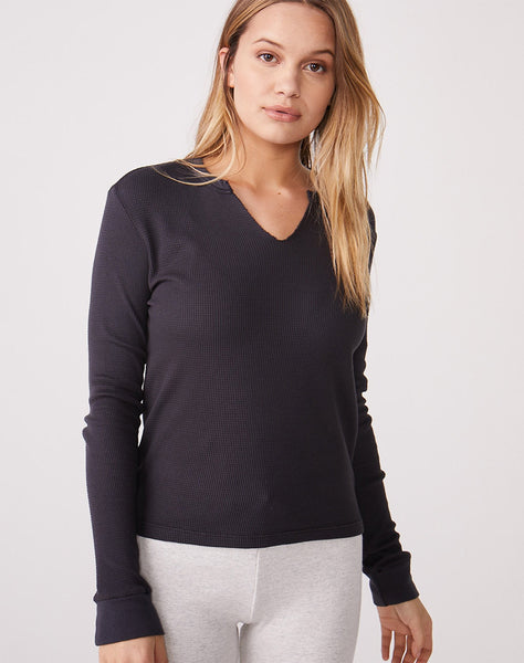 Baby Thermal Long Sleeve Open Neck Top