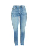 Barbara High-Rise Super Skinny Raw Hem Jean