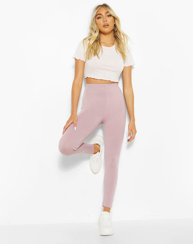 Basic High Waist Ankle Grazer Legging