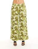 Beachy Linen Paperbag Waist Side Slit Pant