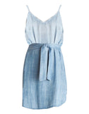 Belted Smocked Back Dress