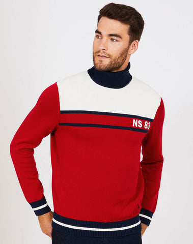 Big & Tall Ns-83 Colorblock Turtleneck