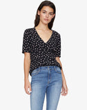 Birdie Shell Top Wildflower Black