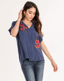 Bloom Service Embroidered Top.