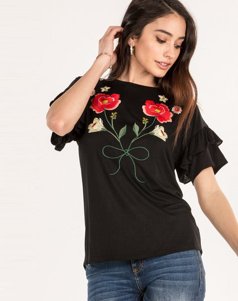 Blooming Creations Embroidered Top
