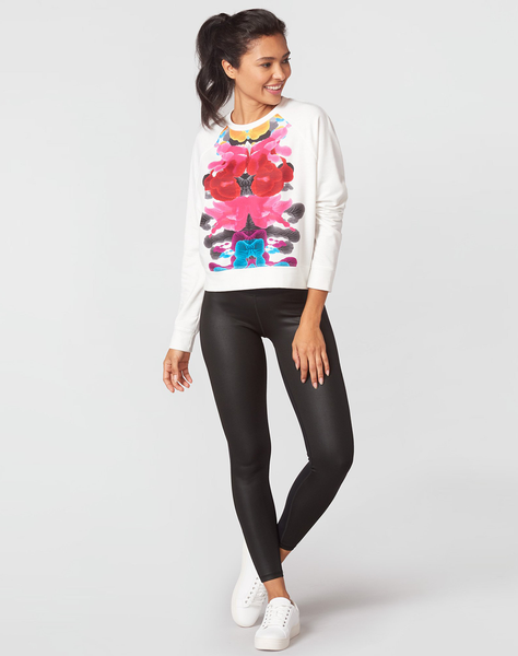 Blossomed Inkblots French Terry Sweatshirt