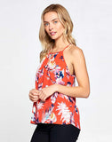 BOHO FLORAL PRINT SLEEVELESS TOP