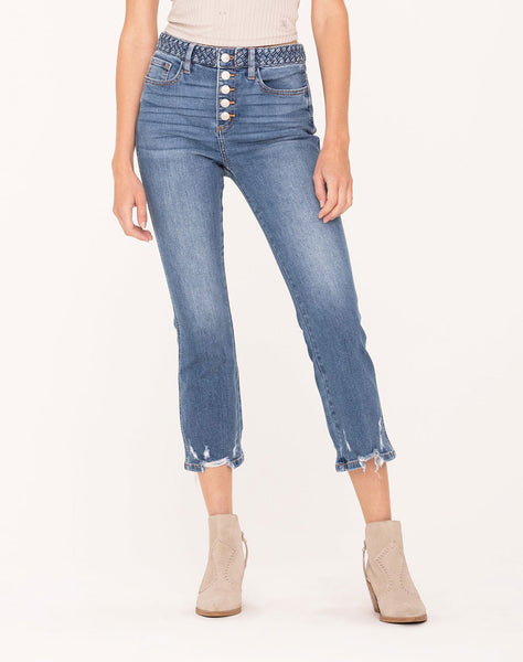 Braided Love Cropped Jeans