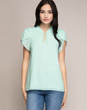 BREANNA PETAL SHOULDER BLOUSE