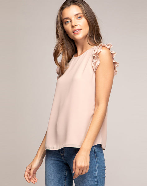 BRILEY RUFFLE BLOUSE