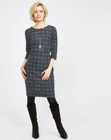 Brushed Check Jersey Dress